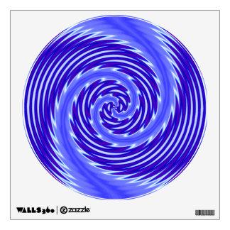 Remolino moderno del vórtice azul brillante