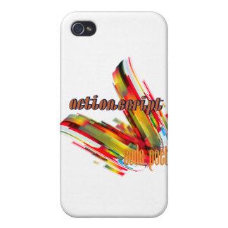 Remolino multicolor del código de ActionScript- iPhone 4/4S Carcasa