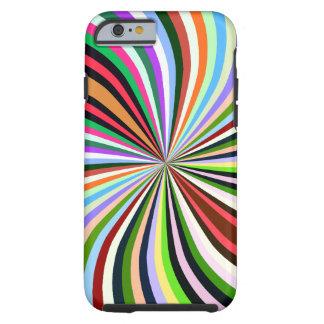 Remolino multicolor. Moda, fondo colorido exótico Funda De iPhone 6 Tough