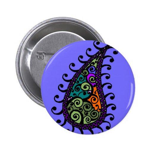 Remolino multicolor Paisley Pin Redondo 5 Cm