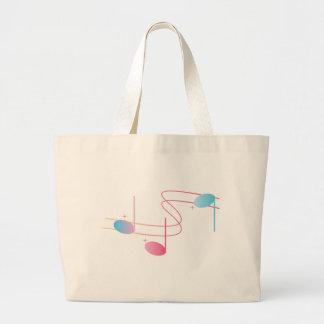 Remolino musical bolsa lienzo
