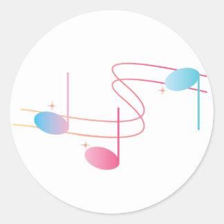 Remolino musical etiquetas redondas