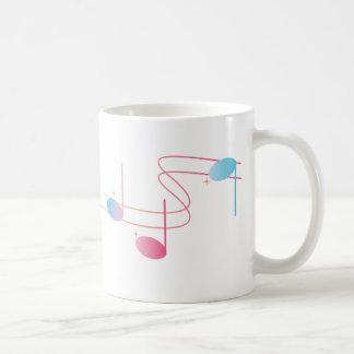 Remolino musical tazas de café