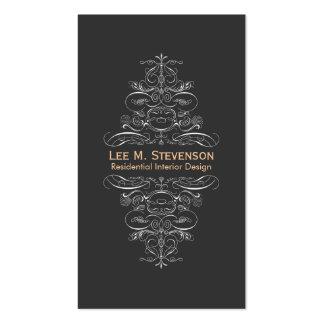 Remolino negro elegante del diseñador elegante del tarjetas de visita
