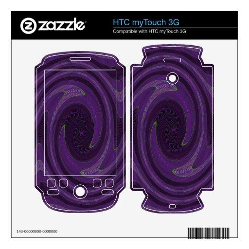 remolino negro púrpura del círculo calcomanía para HTC myTouch 3G