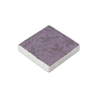 Remolino negro púrpura imán de piedra