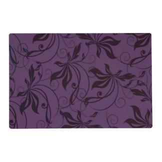 Remolino negro púrpura tapete individual
