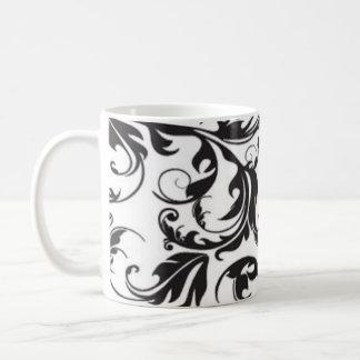 Remolino negro taza clásica