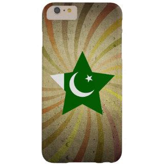 Remolino paquistaní de la bandera del vintage funda para iPhone 6 plus barely there