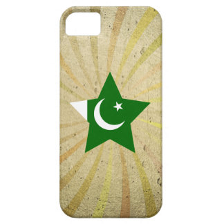 Remolino paquistaní de la bandera del vintage iPhone 5 funda
