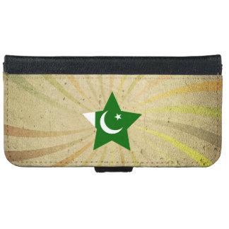 Remolino paquistaní de la bandera del vintage carcasa de iPhone 6