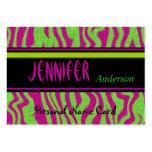 Remolino personal del rosa de la verde lima de la  tarjetas personales