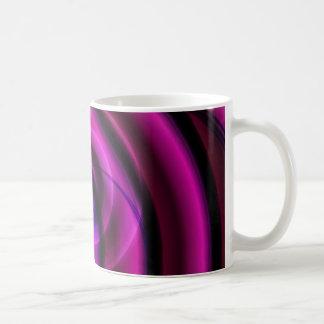 Remolino púrpura abstracto por Tutti Taza Clásica