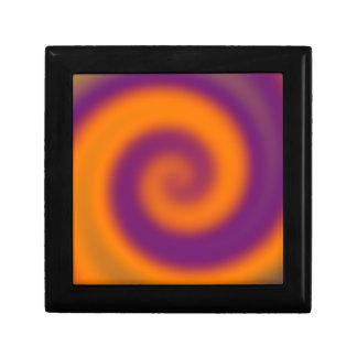 remolino púrpura anaranjado maravilloso caja de joyas