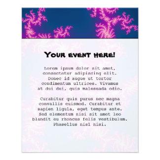 "Remolino púrpura - arte del fractal folleto 4.5"" x 5.6"""