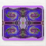 remolino púrpura del cosmos tapetes de ratones