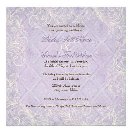 Remolino púrpura del Hydrangea - invitación nupcia
