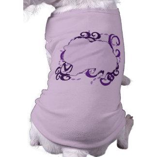 Remolino púrpura Pomeranian Camisas De Mascota