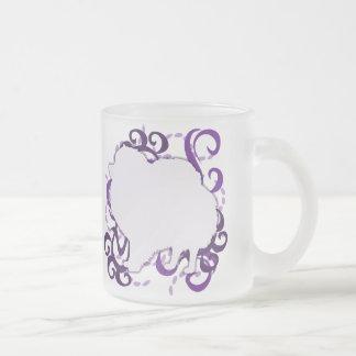 Remolino púrpura Pomeranian Tazas