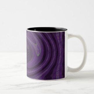 remolino púrpura tazas de café