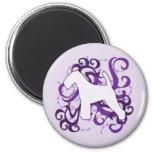 Remolino púrpura Terrier galés Imán Para Frigorifico