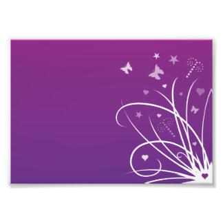 Remolino púrpura y rosado de la mariposa arte fotográfico