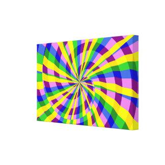 Remolino radial impresión en lona estirada