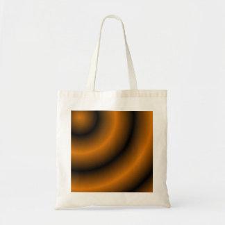 Remolino redondo anaranjado y negro bolsas de mano