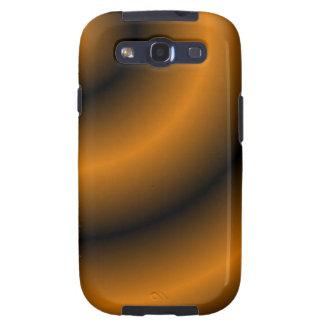 Remolino redondo anaranjado y negro galaxy SIII carcasas