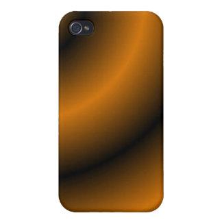 Remolino redondo anaranjado y negro iPhone 4 cobertura