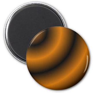 Remolino redondo anaranjado y negro imán redondo 5 cm