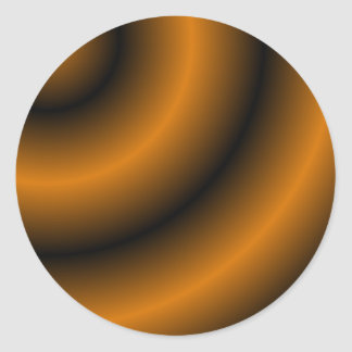 Remolino redondo anaranjado y negro pegatina redonda