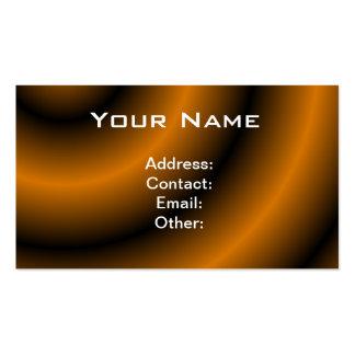Remolino redondo anaranjado y negro tarjeta personal
