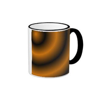 Remolino redondo anaranjado y negro taza a dos colores