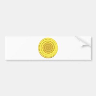 Remolino retro del caramelo en amarillo del carame pegatina para auto