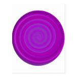 Remolino retro del caramelo en ciruelo púrpura postal