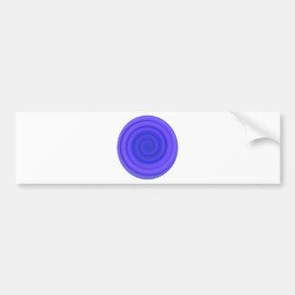 Remolino retro del caramelo en el azul violeta pegatina para auto