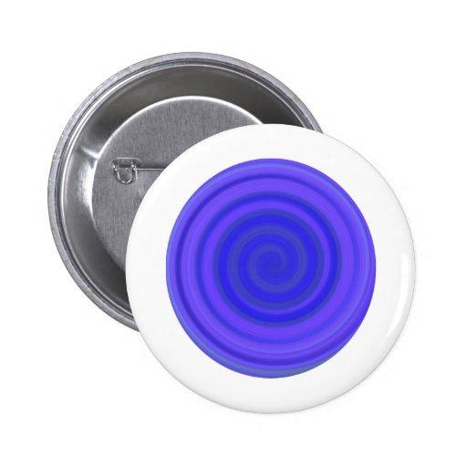 Remolino retro del caramelo en el azul violeta pins