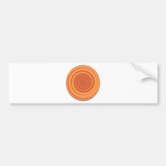 Remolino retro del caramelo en naranja del melocot pegatina para auto