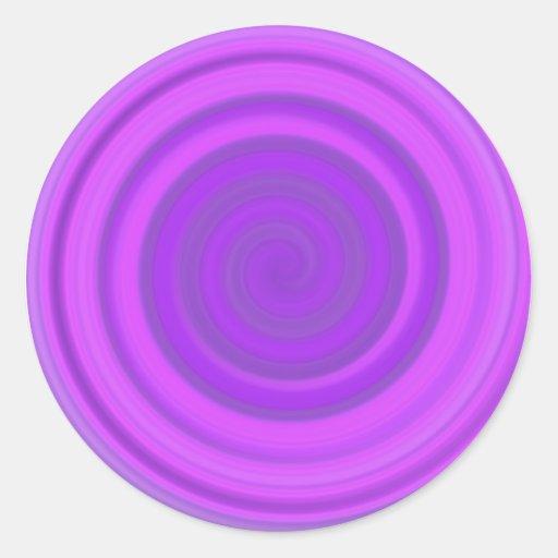 Remolino retro del caramelo en pudín de ciruelo pegatina redonda