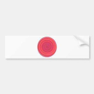Remolino retro del caramelo en rosa de la cereza pegatina para auto