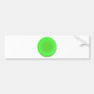 Remolino retro del caramelo en verde lima pegatina para auto