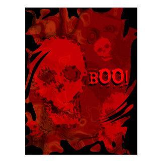 """Remolino rojo """"abucheo de los espectros del tarjetas postales"""