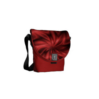 Remolino rojo bolsa messenger