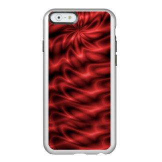 Remolino rojo funda para iPhone 6 plus incipio feather shine