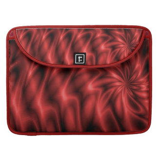 Remolino rojo funda para macbooks
