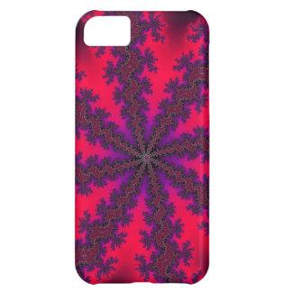 Remolino rojo mega del fractal carcasa para iPhone 5C