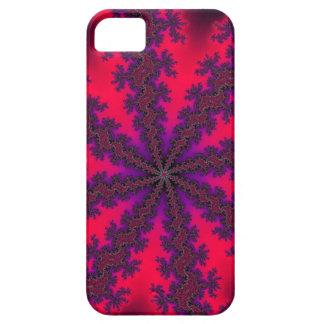 Remolino rojo mega del fractal funda para iPhone SE/5/5s
