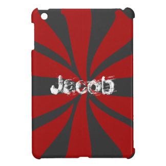 Remolino rojo personalizado iPad mini fundas