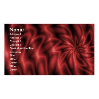 Remolino rojo tarjetas de visita